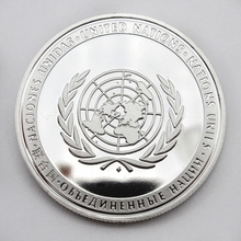 Coin Art 1PC United Nations Peacekeeping Operations UN And Permanent Members Medal Peace Sliver Coin Collection Gift(China)