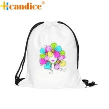 Hcandice Best Gift Hot Selling Hcandice Drawstring Backpack Unisex Graffiti Backpacks 3D Printing Bags Drawstring Backpack