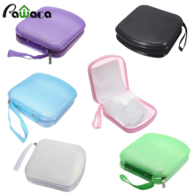 40 Capacity Fashion Zipper VCD Disc Case Storage Bag Women Messenger Bag CD DVD Binder CD Holder Organizador For Car DJ