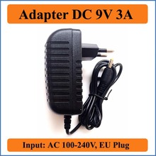 9V 3A EU Plug AC DC Adapter Hot AC 100-240V to DC 9V 3A Switching Power Supply Converter Adapter Charger 5.5mm x 2.1-2.5mm jack