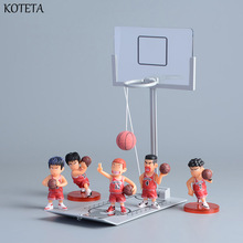 Koteta Anime Slam Dunk Model Action Figures with Miniature Basketball Game Toy Desktop Toys for Adults Anxiety Stree Relief Toy