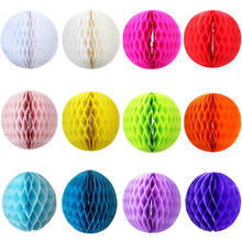 "High quality 10pcs Size:6""(15cm) Paper Honeycomb Ball Colorful Flowers Lantern For Wedding Decorations Birthday Party Decor"