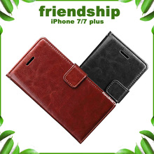 Latest Friendly personality Crazy horse series phone case for apple iphone7 Leather cover for iphone 7 Plus case For iphone 7