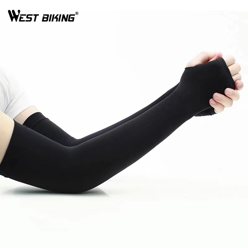 Arm Sleeves Cycling Arm Warmer UV Sun Protection Breathable Elasticated Cuff