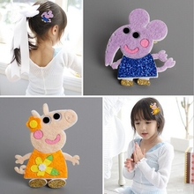 Korea Handmade Pig Rabbit Elephant Animal Hair Accessories Hair Clip Flower Crown Hairpin Headbands for Girls