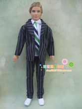1sets = coat+shirt+ pants for barbie doll boy friend ken doll clothes out wear for 1/6 man doll