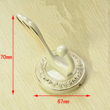 Zinc alloy decorative coat hooks household modern design wall hanging clothes hooks beautiful luxury hotel metal wall hook