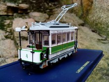 Free Shipping Collectible Atlas Tram 1/87 Scale Diecast Model Tram LE CRABE AUX PINCES D'OR Train Bus Toys Gift