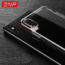 ZNP Ultra Thin Soft Transparent TPU Case For iPhone 8 8 7 Plus 7 Clear Silicone Full Cover For iPhone X Case 6 6S Plus Cases(China)