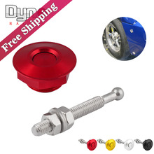 Universal Aluminum Push Button Billet Hood Pins Lock Clip Kit Car Quick Latch(China)