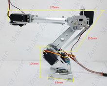 New Arrival 6 dof mechanical Robot arm model 6 Axis Rotating intelligent robot competition DIY Kit(China)