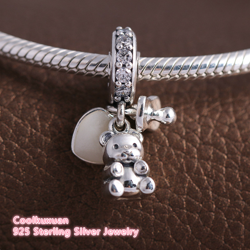 Jewelry Beads Dangle Sterling Silver Reflections Teddy Bear Dangle Bead