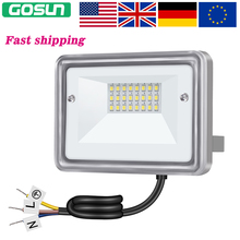 GOSUN 10W LED Flood Light 110V 220V Garden Lighting IP65 Waterproof LED Floodlight Refletor LED Spotlight For Outdoor wall(China)
