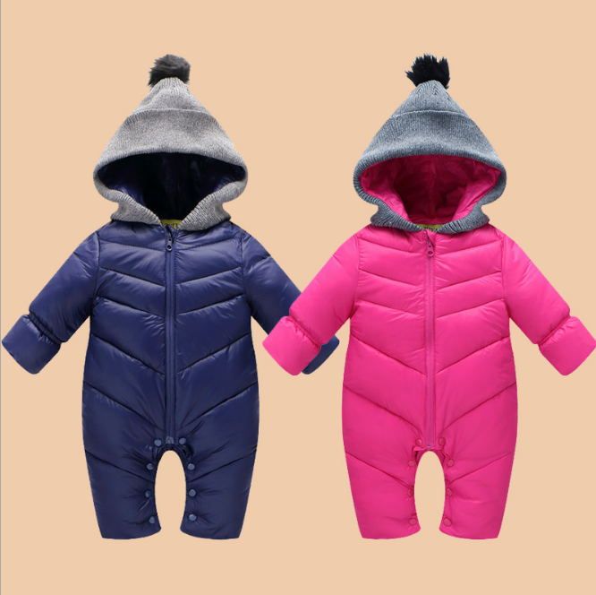 High quality Baby Winter down rompers thick warm baby winter clothes baby jumpsuit vetement enfant Roupas De Bebe N14<br><br>Aliexpress