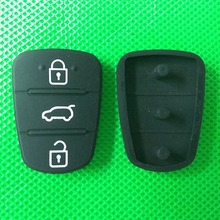 50pcs/lot best good 3 Buttons Car Remote Key Rubber Case Button Pad For Hyundai or Kia I30 IX35 I20