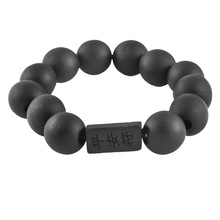 Buy MJARTORIA Mens Big Black Prayer Wooden Beads Tibetan Buddhist Mala Buddha Bracelet Rosary Wood Bracelets Men Fashion Jewelry for $1.12 in AliExpress store
