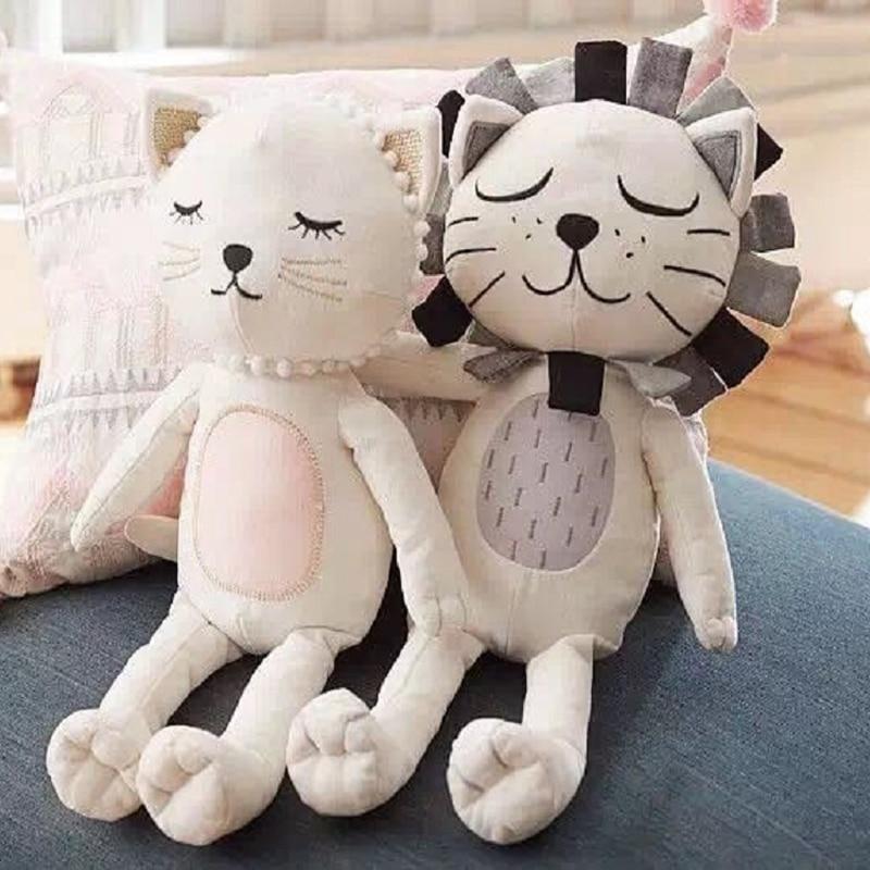 Soft Toys For Children Baby Kids Stuffed Toys Lion Cat Shape Dolls Kids Room Bed Decorative Childrens Best Gift<br><br>Aliexpress