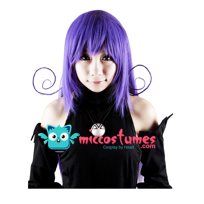 Anime Soul Eater Blair Cosplay Wig Party Women Long Purple Straight Hair