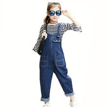 f56509d6e38 2018 Новинка весны Обувь для девочек Детские джинсы корейский комбинезон  Комбинезоны для девочек для подростков Одежда