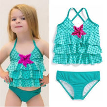 Baby Girls Halter Swimwear Bikini Set Mermaid Bathing Suit Kids Swimsuit Swimming Costume