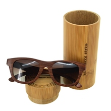 Red Sandalwood Cycling Sunglasses with TAC Polarized Dark Brown Lenses Anti-UV Handmade Wooden Sun Glasses(China)