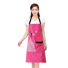 Free shipping Fashion Creative Butterfly Girl Anti-fouling Prevent Dirty Lady Women Kitchen Cleaning Apron Delantal Cocina YM001