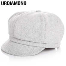 URDIAMOND Fashion Casual Winter Hats Solid Cotton Baby Kids Beret Cap Hats For Girls Cap For Boy Children Berets Hat Gorras(China)
