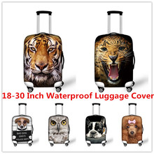 FORUDESIGNS Elastic 3D Animal Print Luggage Covers Travel popular suitcase Protective Covers for 18-30 Inch Dustproof Case Cover