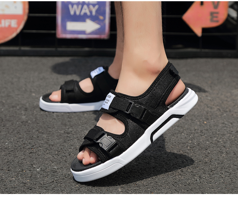 YRRFUOT Summer Big Size Fashion Men's Sandals Outdoor Hot Sale Trend Man Beach Shoes High Quality Non-slip Adult Flats Shoes 46 20 Online shopping Bangladesh