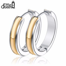 Effie Queen 316L Stainless Steel Earrings New Fashion Punk Hip Hop Hippies Street Earrings for Women Wholesale Jewelry IE50(China)