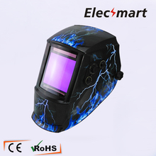 Flashing lightning Auto darkening welding helmet TIG MIG MMA electric welding mask/helmet/welder cap/lens for welding(China)