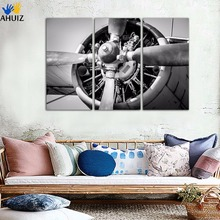 3 Panel Wall Pictures Plane Picture Printed Painting On Canvas Wall Art Home Decor Living Room Canvas Painting Unframed FA299(China)