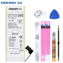 Original NOHON Battery For iPhone 6 6G High Capacity 1960mAh With Retail Package Free Replacement Tools For iPhone 6 Batteries(China)