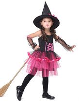 Girl Witch Costume Children Halloween/Christmas Costume For Kids Performance Dress Toddler Party Cosplay Disfrace Carnival Skit
