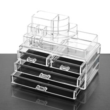 Hot Sales Acrylic Makeup Organizer Jewelry Storage Box  Cosmetic for Organizer Rangement Maquiagem LipStick Nail Holder Display