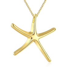 JEXXI Hot Sale Fashion Starfish Pendant Necklace Pretty Jewelry Accesories For Woman Nice Gold Color(China)