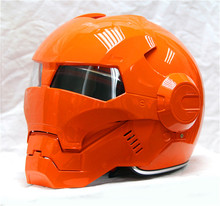 Personality motorcycle Genuine helmet men and women 610 man retro iron the high-end off-road motorcycle bright orange