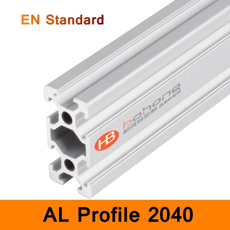 2040 Aluminium Profile EN Standard 6063 Brackets for DIY Bracket Table Holder AL Aluminum Shape 200-500mm Customized Slot Rail<br>