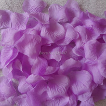 Fashionable Purple Wedding Table Decorations Purple Rose Petals Rose Birthday Party Wedding Decoration(China)