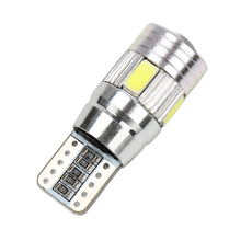 Car License Plate Lights 5630 5730 Parking Bulb Lamp Universal 6 SMD LED Fog Lights Car Styling T10 W5W #HP