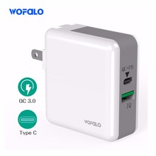 Quick Fast Wall Charger Wofalo 29W Two Port USB QC 3.0 PD Type-C for Macbook iPhone X/8/7/10 puls Samsung Galaxy S8 Edge LG G5(China)
