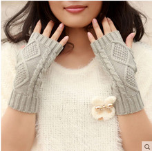 2018 indoor keep warm arm Thin section Men's lady half woolen gloves couples leisure fashion knitted sleeve arm set AW6428(China)