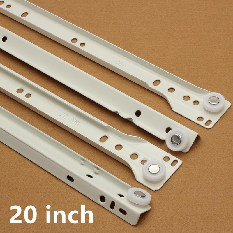 20 inch Furniture hardware Computer desk drawer rail slideway keyboard bracket guide rail <br>