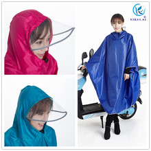 Super large thicken transparent brim bicycle raincoat poncho oxford cloth rain covers(China)