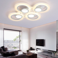 1/3/4/6 rings Acrylic LED Ceiling lights Modern bedroom living room white ceiling lamp home lighting lamparas de techo(China)