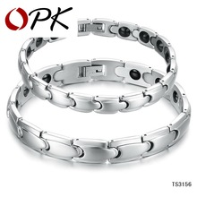 OPK JEWELRY Tennis Bracelets Energy Balance Magnetic Stone Health Care Women Men Bangle Wedding Gift Free Shipping GS3156