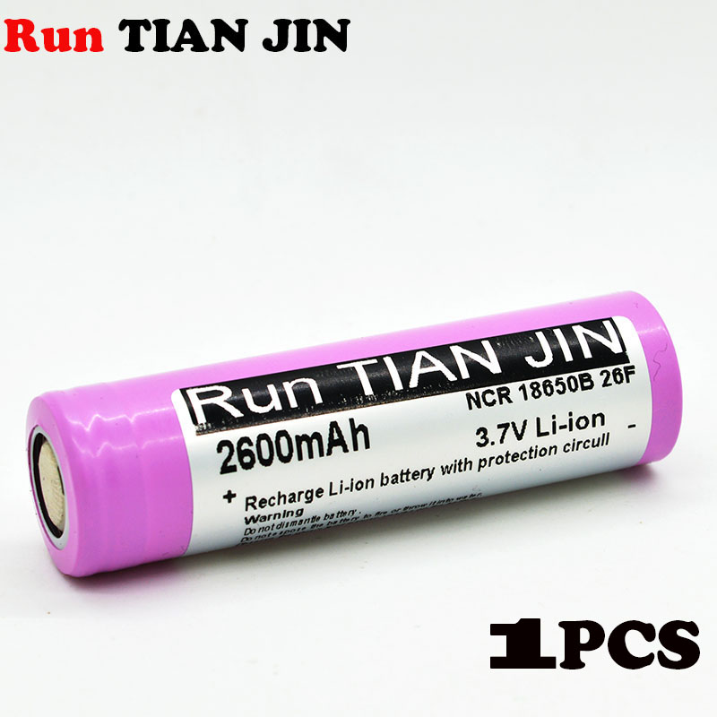 18650 battery 100%2600 mAh battery LED flashlight lithium ion battery ICR18650 26F Battery + free delivery electronic cigarette(China (Mainland))