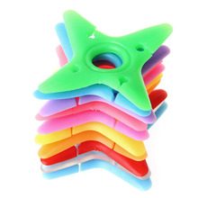 10Pcs Soft Cute Colorful Silicone Dart Star Earphone Cable Winders Wire Holders dropshipping(China)