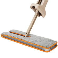 Switch'n Clean Double Sided Flat Magic Mop Hand Push Sweepers Hard Floor Cleaner Lazy Vassoura Self-Wringing Ability V6009