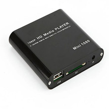 Card Reader tablets sd card High Quality 1080P Mini HDD Media Player MKV/H.264/RMVB HD with HOST USB/SD Card Reader 4*
